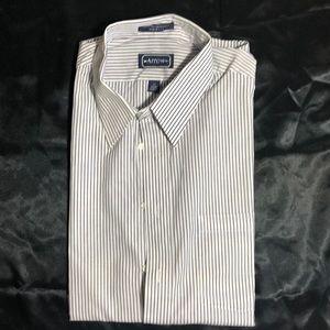 NWOT-Arrow Dress Shirt Short Sleeves stripesSz 17